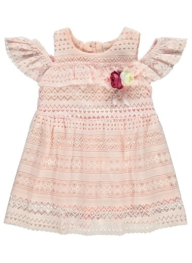 Civil Baby Civil Baby Kız Bebek Elbise 6-18 Ay Ekru Civil Baby Kız Bebek Elbise 6-18 Ay Ekru Pudra